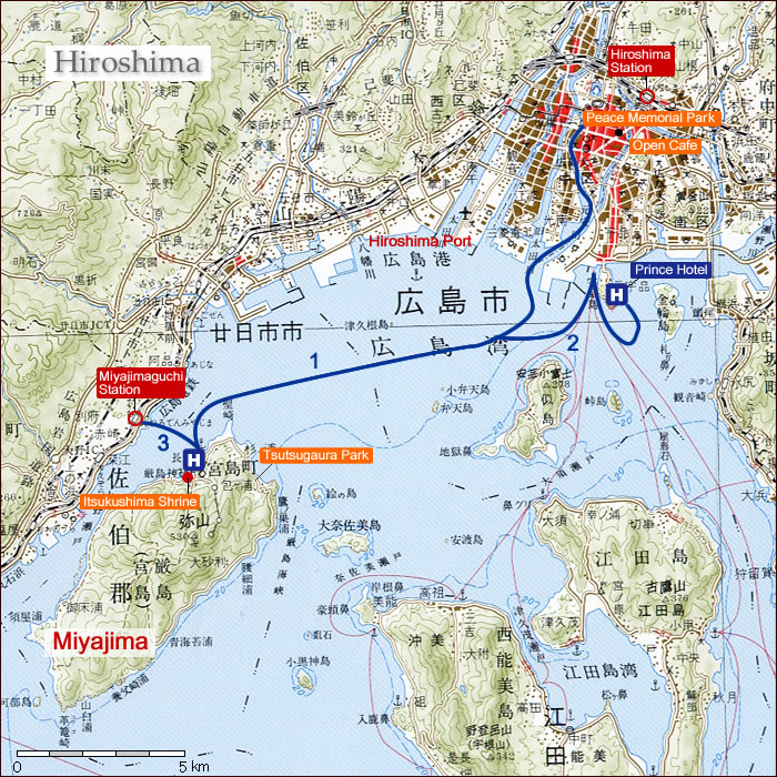 The PigglyWiggly Travels Day 11 Wed 525 Off to Miyajima